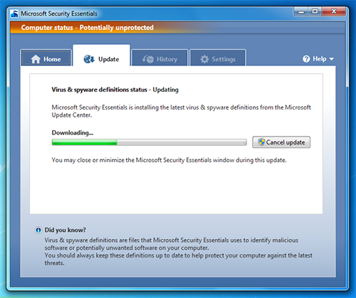 microsoft-security-essentials-10-update